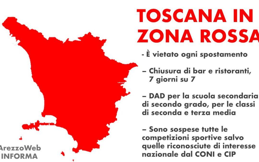 COMUNICAZIONE RELATIVA A PROCLAMAZIONE TOSCANA ZONA ROSSA